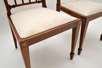 Pair of Antique Edwardian Inlaid Mahogany Side Chairs (8 of 10)