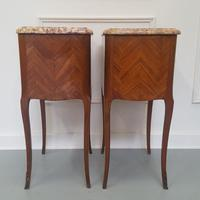Beautiful Kingwood Bedside Cabinets with Marble Tops (4 of 7)