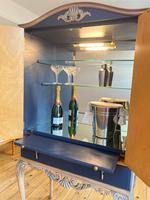Vintage Burr Walnut Louis XV Style Drinks Cabinet (8 of 12)