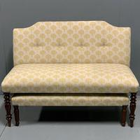 Regency window seat and matching stool (5 of 9)