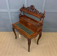 19th Century Plum Pudding Mahogany Bonheur Du Jour (17 of 19)