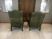 Stylish Pair of Large 18th Century Style Vintage Wing-back Armchairs (5 of 14)