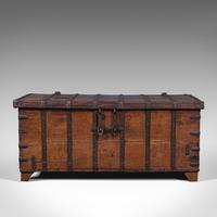 Antique Merchant's Chest, Oriental, Solid Teak, Trunk, William III c.1700 (3 of 12)