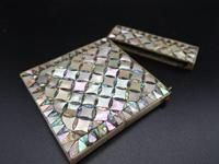 Good Late 19th Century Mother of Pearl & Abalone Pearl Card Case (4 of 4)