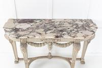 19th Century Painted Console Table with Breccia Marble Top (3 of 13)