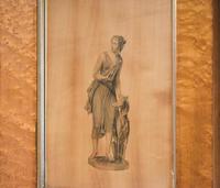 Georgian Neoclassical Drawing on Wood (4 of 6)