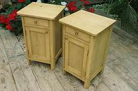Cute & Quality Old Stripped Pine Bedside Cabinets (3 of 9)