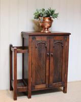 Edwardian Oak Hall Cabinet (4 of 10)