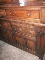 Ornately Carved Oak Court Cupboard (3 of 4)