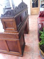 Country Oak Lions Head Pedestal Desk 1850 W M Richardson Ltd (7 of 12)