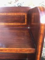 Edwardian Inlaid Mahogany Slim Open Bookcase (7 of 7)