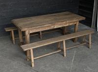 Normandy Oak Farmhouse Table & Bench Set (14 of 19)