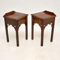 Pair of Antique Chippendale Style Mahogany Bedside Tables (4 of 12)