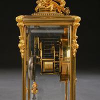 French 8 Day Striking Four Glass Ormolu Clock by Samuel Marti Paris, 19th Century (2 of 11)