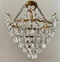 A Single Light French Waterfall Chandelier