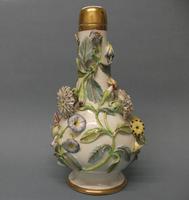 Samuel Alcock Flower Encrusted Bottle Shape Vase and Cover, c. 1830 (8 of 8)