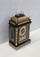French 19th Century Ebonised & Boulle Religious Mantel Clock (7 of 10)