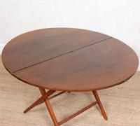 Walnut Folding Coaching Card Table (3 of 11)