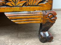 Chinese Camphor Wood Carved Birds & Flowers Chest Coffee Table (19 of 34)