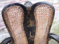 Stylish Regency Chinoiserie Lacquered Desk Chair (6 of 7)