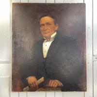 Large Antique Victorian Oil Painting Portrait of Gentleman in Formal Attire (2 of 10)