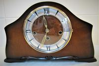Scarce 1938 German Westminster Chiming Mantel Clock with Platform Escapement