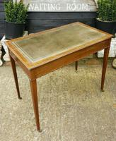 Victorian Mahogany Two-Drawer Writing Desk (5 of 8)