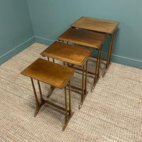 Edwardian Mellow Walnut Nest of Four Antique Tables (4 of 5)