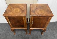 Pair of Burr Walnut Queen Anne Bedside Cupboards (6 of 15)