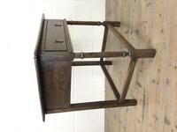 Antique Oak Side Table(m-2250) (8 of 9)