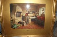 Antique Original Watercolour - A Devonshire Cottage - Henry Tozer 1864-1938 (9 of 11)