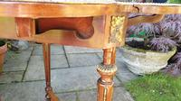 Exceptional 19th Century Marquetry Drop-leaf Centre Table (8 of 9)