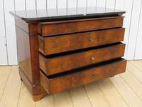 Antique Louis Philippe Walnut Marble Top Chest of Drawers (4 of 11)