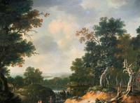 Exceptional Large 1700s Old Master Giltwood Landscape Oil on Canvas Painting (15 of 17)