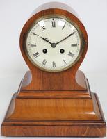 Impressive Solid Walnut Drum Head Striking Mantel Clock PHS Mantle Clock (3 of 12)
