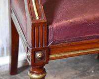Pair of French Directoire Leather Armchairs (2 of 16)