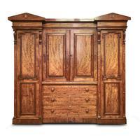 Antique William IV Mahogany 4 Door Wardrobe