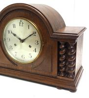 Solid Oak Hat Shaped Mantel Clock 8-day by Hac Westminster Chime (6 of 10)