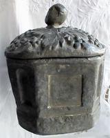 Antique English Georgian Lead Tobacco Box (2 of 8)