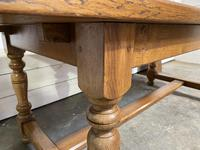 Oak Farmhouse Dining Table with Extensions (16 of 18)