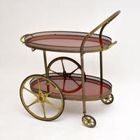 1960's Vintage French Brass Drinks Trolley (4 of 13)