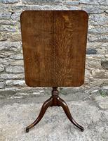 Georgian Oak Rectangular Tilt Top Occasional Table (11 of 16)