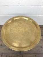 Early 20th Century Middle Eastern Brass Tray Top Folding Table (5 of 8)