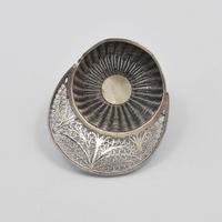 Georgian Silver Filigree Jockey Cap Caddy Spoon (6 of 9)