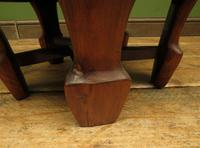 Antique Chinese Wooden Stool with Red Cushion (4 of 13)