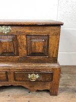 18th Century Style Welsh Oak Coffer Bach C.1930 (M-665) (4 of 11)