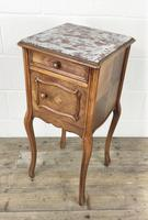 French Walnut & Marble Bedside Cupboard (12 of 15)