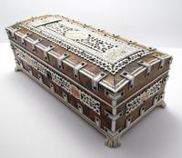 Quality Victorian Anglo Indian Antique Vizagapatam Trinket Jewellery Box Casket, 19th Century India (2 of 11)
