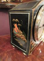 Small Antique Chinoiserie Mantel Clock (4 of 8)