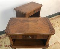 Vintage French Mahogany Cabinets Bedside Tables (10 of 14)